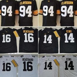 f4d5dbc1b ... Black White College Football Jersey Desmond King mens Best Quality Iowa  Hawkeyes football jerseys 12 Ricky Stanzi 94 Adrian Clayborn 16 .