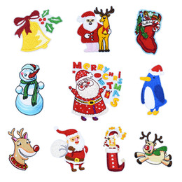 christmas iron transfers 2018 10pcs merry christmas embroidery patches for clothing shoes iron on transfer
