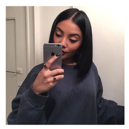 Full Lace Weave Human Hair NZ - Human Hair lace Wigs For Black Women Virgin Unprocessed Hair Weaves Full Lace Wigs Middle Part Straight Hair Weave Natural Color Bellahair