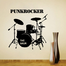 Musical Instruments Art Canada - Drum Set Wall Graphic Decal musical instruments sticker living room sofa background wallpaper fashion decoration