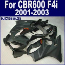 F4i Fairings Australia - 100% Injection bodywork for HONDA CBR 600 F4i body repair fairing 01 02 03 CBR600 F4i 2001 2002 2003 black fairing kits