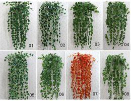 Climbing vine plants online shopping - Wedding cm Bar Restaurant Wall Decoration Artificial Plastic Simulation Climbing Vine Green Leaf Ivy Rattan Home Decor Plants