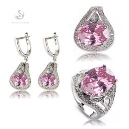 $enCountryForm.capitalKeyWord Canada - Noble Generous MN546set sz#6 7 8 Favourite Pink Cubic Zirconia Best Sellers Copper Rhodium Plated Trendy heart set (ring earring pendant)