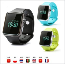 Bluetooth Smart Watch Sim Australia - Bluetooth Smart Watch SmartWatch A1 PK DZ09 GT08 Smart Watches Support SIM and TF Card For Smart Android phones MQ50