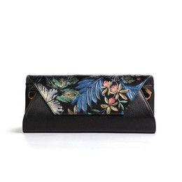 Chinese Floral Paintings UK - Genuine Leather Hot Sell Newest Classic Fashion Style chinese style Ladytop handle bag hand-painting gift bag #1035 Free Shipping!