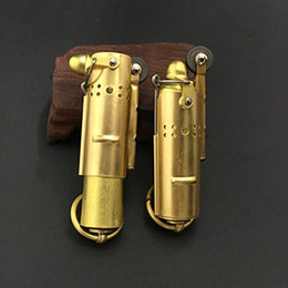 Camp lighters online shopping - Collectable WWI WWII Vintage Stainless Steel lighter Brass Lighter