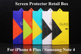 cell phone screen protectors note 2019 - For iPhone6 Colorful Tempered Glass Screen Protector Retail Package Box for Cell Phone Accessiores Samsung Galaxy Note 4
