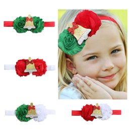 $enCountryForm.capitalKeyWord Australia - Baby Christmas Headbands Chiffon Flower Hairband for Girl Pretty Princess Party Decor Infants Hair Accessories Boutique Headress