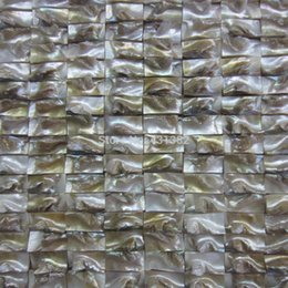 Vintage mosaic tile online shopping - mesh mounted mother of pearl D brick decorated shell mosaic tiles in vintage