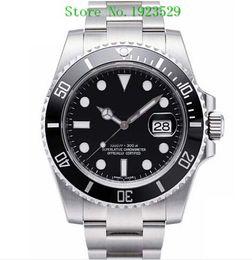 Luxus Uhren Box schwarz Keramik Lünette Zifferblatt 116610 16610 Edelstahl Armband automatische Herren Herrenuhr Uhren Mann Armbanduhr