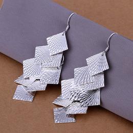 car chandelier 2019 - Brand new sterling silver Multi-brand car flower earring DFMSE237,women's 925 silver Dangle Chandelier earrings 10