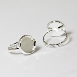 Rounded Ring Canada - Beadsnice rings for children silver plated brass finger ring settings ring blanks fits 10mm round gemstone wholesale jewelry ID 11218