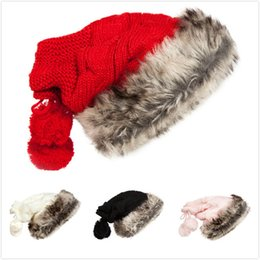 Free knitted hats For girls online shopping - Lovely Lady Hat New Winter Keep Warm Plush Knitted Beanies Windproof Cap Popular For Multi Color lz C
