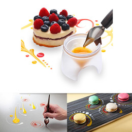 Wholesale 2pcs set Stainless Steel Chocolate Spoon Fondant Cake Ice Cream Chocolate Dessert Decoration Spoon Kitchen DIY Baking Tools