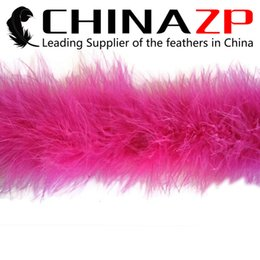 Feather Boa Decorations Canada - CHINAZP Crafts Factory 2yards lot Hot Sale Fantastic Wedding and Birthday Party Decoration Fuchsia Dyed Turkey Marabou Feather Boas