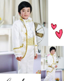 $enCountryForm.capitalKeyWord Canada - Handsome Embroidery Boys Formal Occasion Tuxedos Kid Birthday Party Suits Prom Business Suits (Jacket+Pants+Shirt+Girdle)