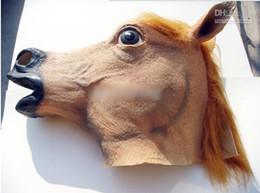 $enCountryForm.capitalKeyWord NZ - Creepy Horse Mask Head Halloween Costume Theater Prop Novelty Latex Rubber animal Head