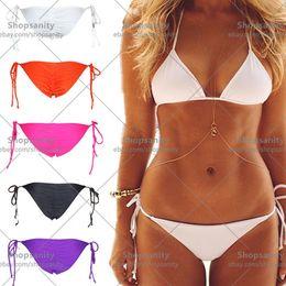 $enCountryForm.capitalKeyWord Canada - w1028 New Womens String Scrunch Cheeky Tie Side Brief Brazilian Swimwear Bikini Bottom