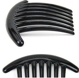$enCountryForm.capitalKeyWord Canada - plastic magic types of hair comb black color Bridal Cuff Jewelry Accessories Women Hair Clip hair brush ABS 11X7.5CM 10pcs lot HQS-G102639