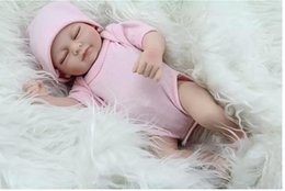 Discount sold silicone dolls - Free Shipping Hot Sell New Deign Reborn Baby Doll Fronzen Girl's boy Great Present Soft Silicone Vinyl Doll
