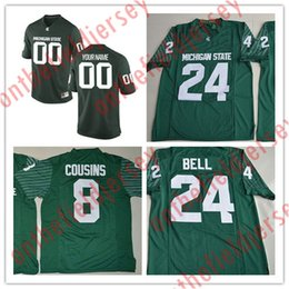 5deeea0a545 ... Custom Michigan State Spartans College Football Jersey Mens Limited green  Personalized Stitched Any Name Any Number ...