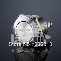 Stainless Push Button Canada - 19mm stainless steel Push button switch Waterproof Flat head