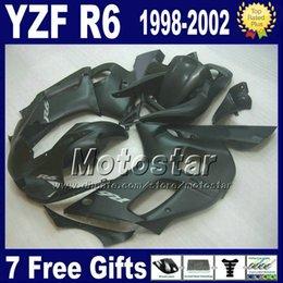 R6 Abs NZ - ABS full fairing kit for YAMAHA YZF600 YZF R6 1998 1999 2000 2001 2002 YZF-R6 98-02 all matte black motorcycle fairings VB16 +7 gifts