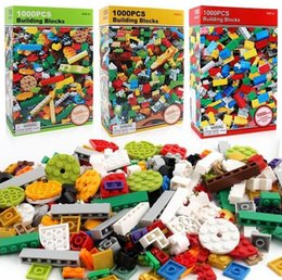 building blocks toys bulk Canada - Building Blocks Toys 1000pcs DIY Bulk Bricks with Free Lifter for Kids Building Bricks Construction Blocks Gifts Toys