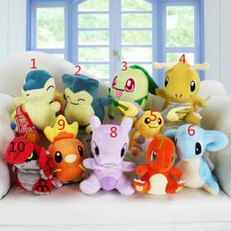 Discount raichu plush toys - 10cm-20cm 10 styles Snorlax Cyndaquil torchic Mewtwo Charmander Lapras Dragonite Raichu Chikorita Snorlax Plush Toys Sof