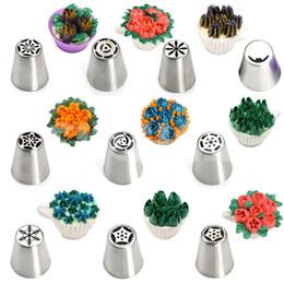 11pcs en acier inoxydable buse set russe tulipe fleur pointe pâtisserie outils glaçage tuyauterie buse gâteau décoration outils de pâtisserie de pâtisserie en Solde