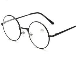 1911e30791c7 Retro men women round mirror reading glasses for Harry Potter metal frame  glasses plain mirror personalized + 100...+400