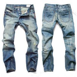 ecebd01661 Fashion Men Jeans Mens Slim Casual Pants Elastic Trousers Light Blue Fit  Loose Cotton Denim Brand Jeans For Male