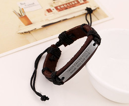 discount leather name bracelets leather name bracelets 2019 on