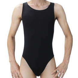 Leotard Body Body Homme Pas Cher-Vente en gros-Fashion Hot Men Sexy mankini justaucorps Sous-vêtements maillot hommes BodySuit Onesies Thong Briefs