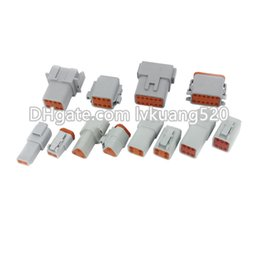 Deutsch electrical connectors online shopping - 6 Sets of Pin waterproof wire electrical connector plug AWG Automobile Deutsch Connector