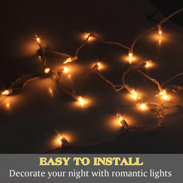 led outdoor indoor christmas lights strip xmas wedding party decorations bright warm white 20 bulbs wholesale free shipping