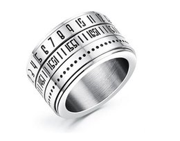 $enCountryForm.capitalKeyWord NZ - Top quality 316L Stainless steel Roma Numbers can remove Personality Ring for man N511