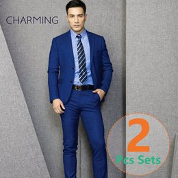 Discount Mens Blue Check Suit | 2017 Royal Blue Suit Mens Check on ...