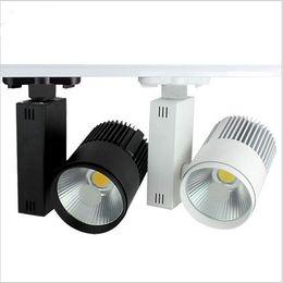 Strip Spotlights Canada - Super bright LED Track Light 20W COB Rail Light Spotlight strip Equal to 200w Halogen Lamp AC85-265V Track Lamp Rail Lamp