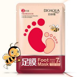 $enCountryForm.capitalKeyWord NZ - DHL BIOAQUA feet mask Milk and Bamboo Vinegar foot Mask skin Peeling Exfoliating regimen for Feet care Honey nourishing