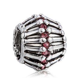 $enCountryForm.capitalKeyWord Canada - 925 Sterling Silver Charm Wheel With Crystal European Charms Silver Beads For Pandora Snake Chain Bracelet DIY Fashion Jewelry