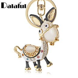Donkey penDant online shopping - beijia Enamel Donkey HandBag Pendant Crystal Keyrings Keychains For Car Purse Bag Buckle Party Gift Key chains Holder K243