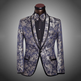 Beige Slim Suits For Men Canada - 2015 New Arrival Men Suit Tuxedo Spring Fashion Mens Slim Fit Prom Floral Wedding Suits For Men Brand Groom 6Xl