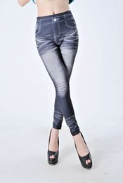 Look Sexy Jean Pas Cher-1pcs Legging sexy Une star jean look legging sans couture Stretch skinny slim pantalon Jeggings jambières fines
