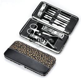 Free shipping manicure set all-round nail scissors manicure tool manicure kit 12pcs set, nail care set wholesale on Sale