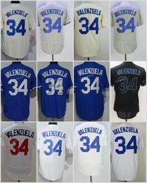 790e7dcb6 ... 2017 Flexbase Los Angeles 34 Fernando Valenzuela Home Away Baseball  Jersey Light Blue White Grey Cool ...