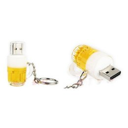 Flash Drive Package Australia - New arrives beer cup 32GB 64GB 128GB USB2.0 usb flash drive pendrive flash memory retail package free shipping