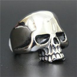 $enCountryForm.capitalKeyWord Canada - 5pcs Free Shipping New Popular Cool Skull Ring 316L Stainless Steel Man Boy Fashion Personal Design Ghost Skull Ring