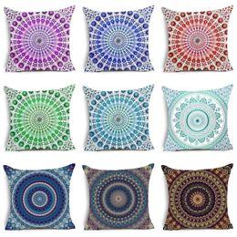 Paisley Bohemia Style Geometric Printing Cushion Covers Ethnic Linen Throw  Pillow Case Sofa Car Seat Home Decorative Funda Cojin