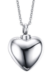 $enCountryForm.capitalKeyWord Canada - Free Engraving High Polished Stainless Steel Love Heart Shaped Urn Pendant Necklace For Ashes Perfume Essential Oil